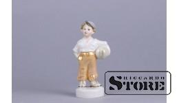 Figūriņa, Futbolists, porcelāns, Rīga, Rīgas porcelāna rūpnīca, modeļa autors - Zina Ulste, 1950tie gadi, 11.8 cm