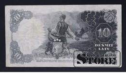 БАНКНОТА , ЛАТВИЯ , 10 ЛАТ 1939 год - BL168746