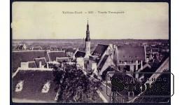 Старинная Эстонская открытка. Вид Таллина