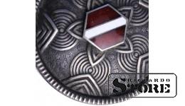 Серебро , Сакта с флагом Латвии , 875 проба , 11.13 г.
