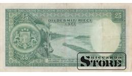 БАНКНОТА , ЛАТВИЯ , 25 ЛАТ 1938 ГОД - A874,024