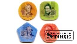 Набор из четырех 1,3,5,10-рублевых монет Приднестровья из композитных материалов, 2014