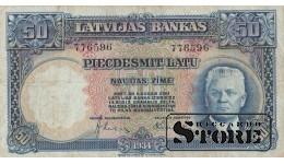 ЛАТВИЯ, БАНКНОТА , 50 ЛАТ 1934 ГОД ,776596