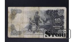 БАНКНОТА , ЛАТВИЯ , 10 ЛАТ 1938 год - AB 071847