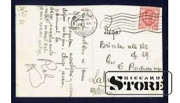 Старинная Итальянская открытка 1928 г. Монумент