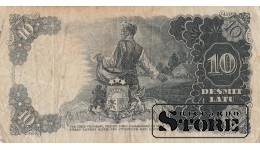БАНКНОТА , ЛАТВИЯ , 10 ЛАТ 1940 ГОД - DA 029925