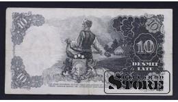 БАНКНОТА , ЛАТВИЯ , 10 ЛАТ 1939 год - BL084681