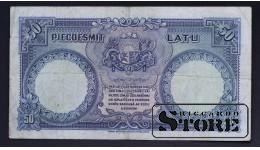 Банкнота, Латвия , 50 лат 1934 год - 478349