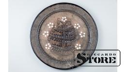 Керамика , Настенная тарелка , АВТОРСКАЯ РАБОТА , 38,5 Ø