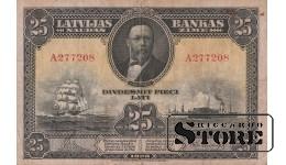БАНКНОТА, 25 Лат 1928 год - A277208
