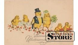 Старинная Пасхальная открытка - 33