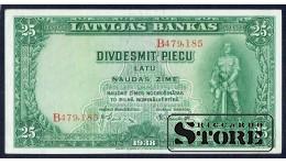 БАНКНОТА , ЛАТВИЯ , 25 ЛАТ 1938 ГОД - B479,185