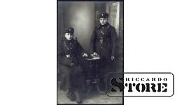 Старинная открытка времён Ульманиса. Защитники Латвийской Армии