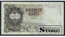 БАНКНОТА , ЛАТВИЯ , 10 ЛАТ 1937 - E 125475