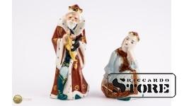 Фарфоровые статуэтки Царь Горох и Царевна Несмеяна
