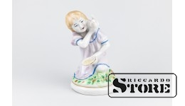 Статуэтка , Девочка с голубем , Полонский завод художественной керамики , 60-е , 12 см
