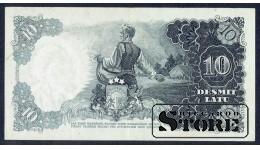 БАНКНОТА , ЛАТВИЯ , 10 ЛАТ 1938 - AH 052325