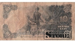БАНКНОТА , ЛАТВИЯ , 10 ЛАТ 1938 ГОД - AE 152742