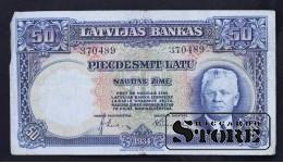 LATVIA , 50 LATI 1934 GADS - 370489