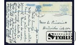 Старинная открытка В Атлантик Сити. Отель