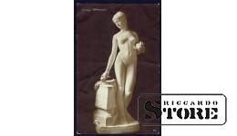 Коллекционная открытка Российской Империи Мраморная статуя девушки