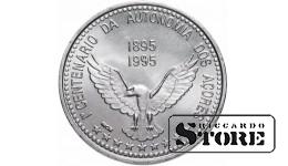 """Португалия 100 эскудо (escudos) 1995 """"100 лет автономии Азорские острова"""""""