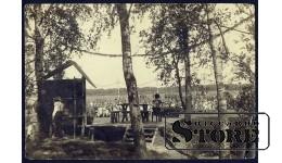 Старинная открытка Собрание
