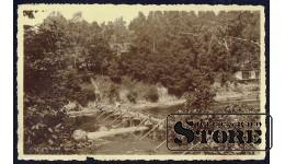 Старинная открытка времён Ульманиса Река Огре