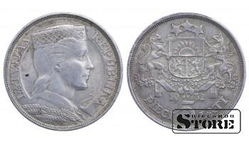 1932 Latvia First Republic (1922 - 1940) Coin Coinage Standard 5 Lati KM# 9 #LV249