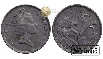 Бермудские острова , 10 центов 1997 год