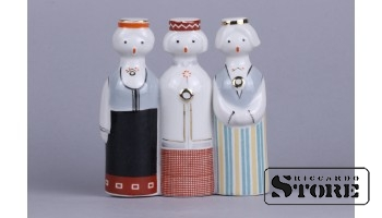 figūriņa panno. Rīgas porcelāna fabrika, 1950tie gadi, 13 cm