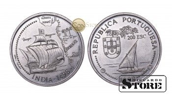 Португалия , 200 эскудо, 1998 год (Путешествие Васко да Гамы в Индию 1498 года - Индия)