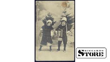 Старинная открытка с рождеством