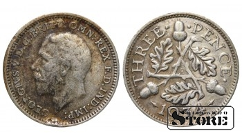 1934 Great Britain UK Coin Silver Ag Coinage Rare 3 Pence KM#831 #UK719