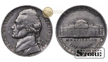 Монеты США , 5 центов - 1984 год P
