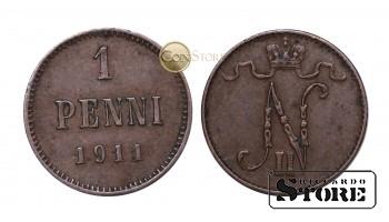 ФИНЛЯНДИЯ , 1 ПЕННИ 1911 ГОД