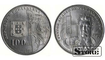 Монета 100 эскудо 1987 год Португалия. 100 лет со дня рождения Амадеу ди Соуза-Кардозу
