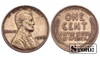 1 ЦЕНТ США 1939 ГОД KM# 132