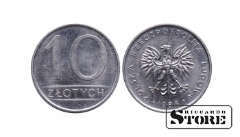 Польша, 10 злотых 1988 год