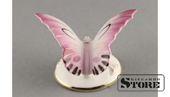 Фарфоровая статуэтка Бабочка, розовая (вишнёвая)