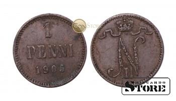 ФИНЛЯНДИЯ , 1 ПЕННИ 1905 ГОД