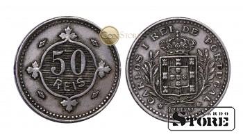 Португалия , 50 рейс - 1900 год , Королевство Португалия (1836 - 1910)