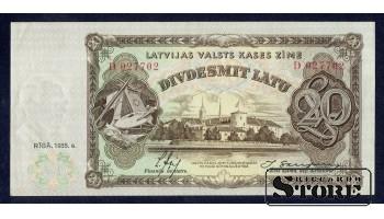 БАНКНОТА , 20 ЛАТ 1935 ГОД -  D 027702 XF+
