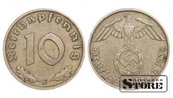 1939 Germany Nazi Germany (Third Reich) (1933 - 1945) Coin Coinage Standard 10 reichspfennig KM#92 #G480