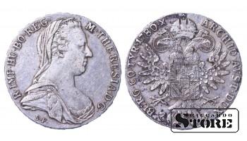 Austria Silver Ag Coin Holy Roman Empire 1780 Half Thaler KM# 1867 AV542