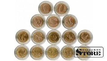 """Набор монет """"Красная книга"""" 15 монет"""