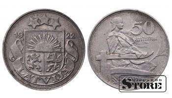 Монеты Латвии, 50 сантим 1922 год
