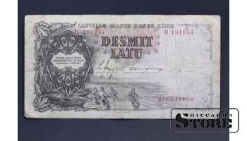 БАНКНОТА , ЛАТВИЯ , 10 ЛАТ 1937 год  - B 181957