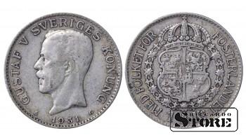 1931 Sweden King Gustav V (1908 - 1950) Coin Coinage Standard 1 krona KM# 786 #5