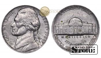 Монеты США , 5 центов - 1986 год P